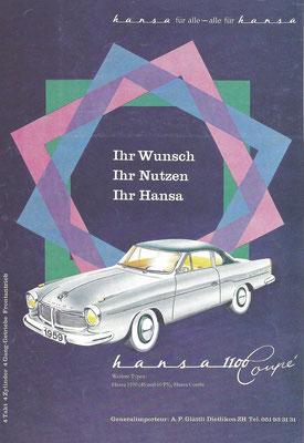 Advertentie voor Hansa.