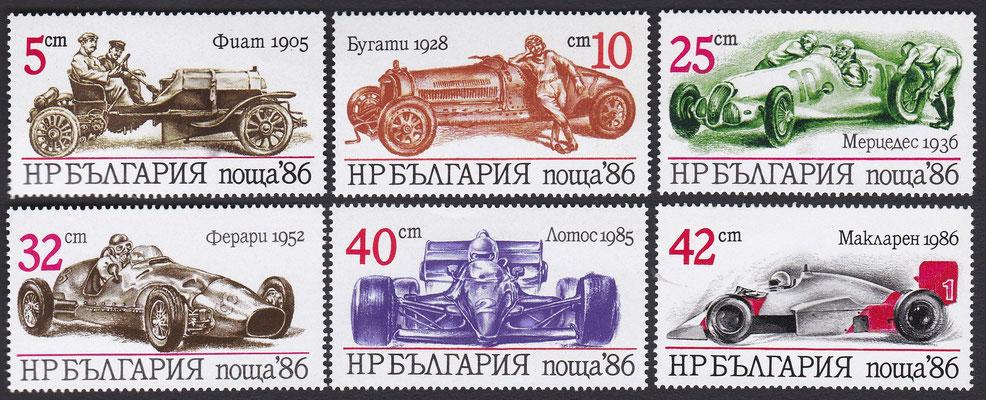Postzegels Bulgarije uit 1986.