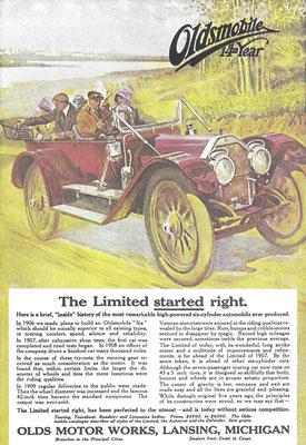 Een advertentie voor Oldsmobile.