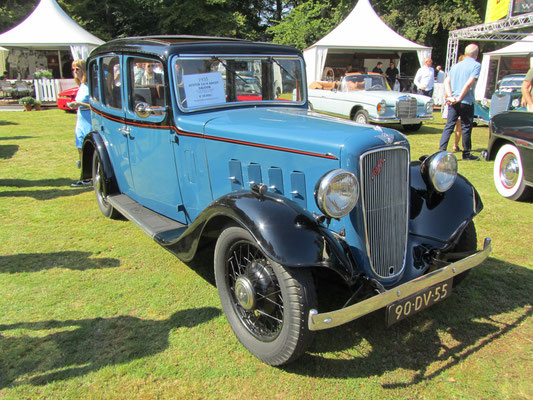 Austin 12/4 Ascot saloon uit 1935. (Concours d'Elegance Paleis Soestdijk 2019)
