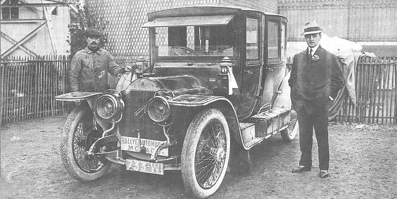 Henri Rougier met een Turcat-Méry 18 HP 3,3 liter won in 1911 de Rally van Monte Carlo.