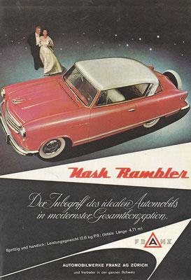 Zwitserse advertentie voor Nash.