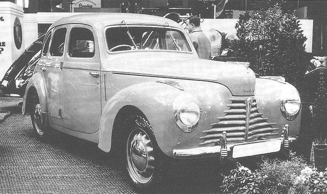 Skoda 1101 uit 1948.