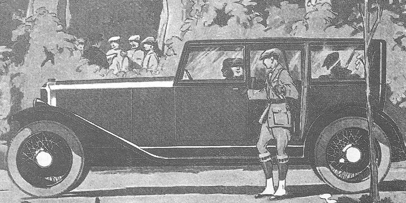 Reclame uit de 20er jaren voor de DFP type A 2000.