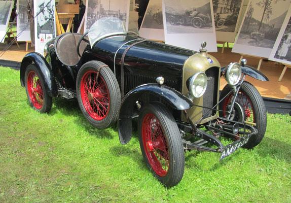 Een Amilcar CGSS uit 1927 op het Concours d'Élégance 2016 op Paleis Het Loo in Apeldoorn.