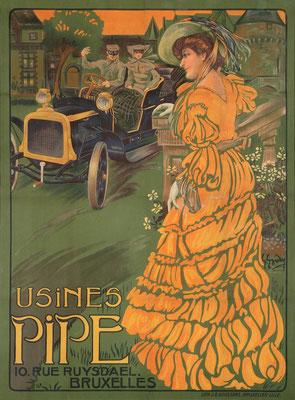 Affiche van Pipe gemaakt door Georges Gaudy.