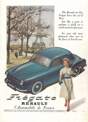 Franse advertentie voor de Renault Frégate.