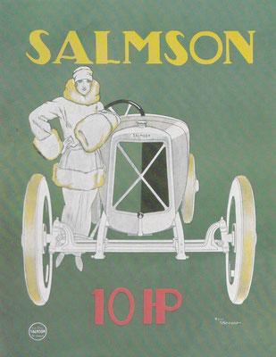 Affiche voor Salmson ontworpen door René Vincent.