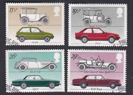 Postzegels Groot-Brittannië uit 1982.