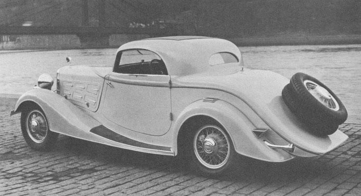 Skoda TypSkoda Type 645 met een luxe cabriolet carrosserie van Sodomka.e 650 6-cilinder 2-zits coupé uit 1933.