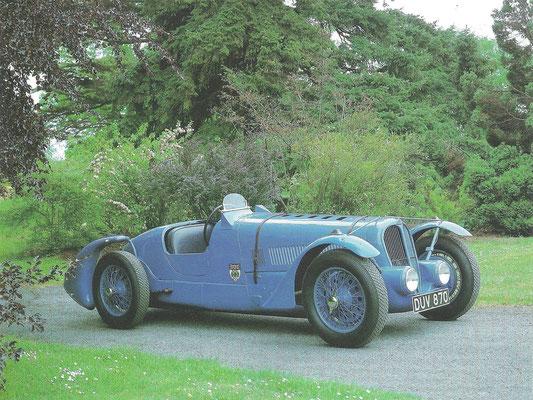 Deze Delahaye 135 uit 1936 werd gebruikt door de coureur Rob Walker die later Stirling Moss sponsorde.