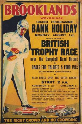 Brooklands, gebouwd in 1907, was de eerste racebaan.