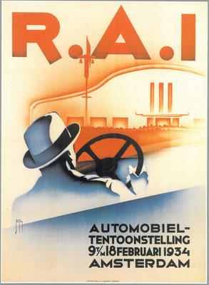Een affiche voor de RAI 1934.