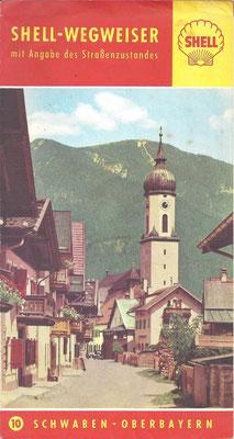 Shell-Wegweiser, Nr.10 Schwaben-Oberbayern, 1957.