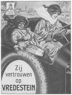 Promotietekening van Vredestein uit 1917.
