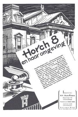 Nederlandse advertentie voor Horch uit 1930.
