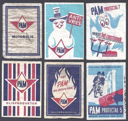 Luciferplaatjes van PAM producten, 1963.