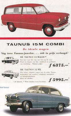 Reclame van Ford voor de Taunus.