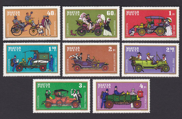 Postzegels Hongarije uit 1970.