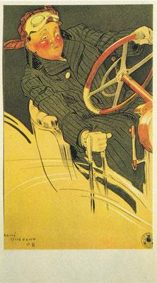The Scorcher, kunstwerk van René Vincent, ~1905.