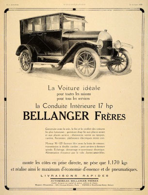 Advertentie Bellanger Frères.