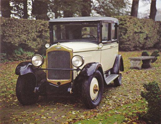 Opel 1,9 liter 40 pk uit 1930.