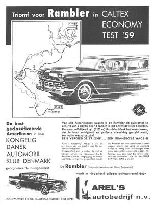 Een advertentie voor de AMC Rambler uit 1959.