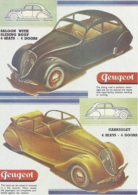Een advertentie van Peugeot.