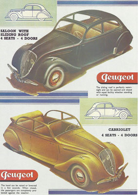 Advertentie Peugeot.