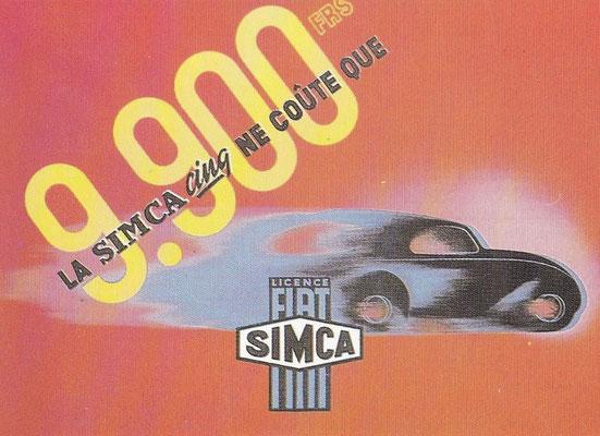 Affiche voor Simca ontworpen door Adolphe Mouron Cassandre in 1936.