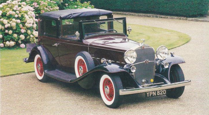 Cadillac Series 452 stadscoupé V16 uit 1931.