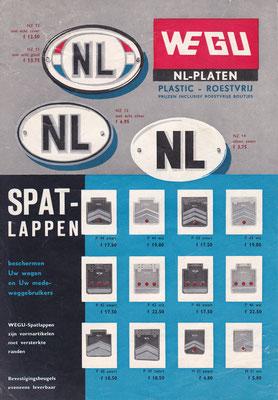 Folder WEGU NL-platen en spatlappen.