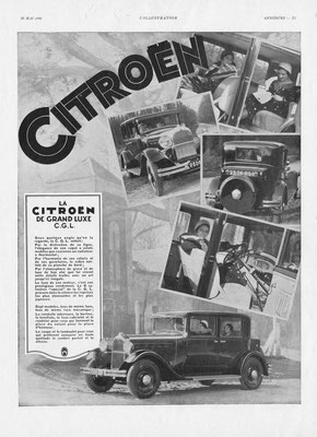 Advertentie Citroën in l'Illustration 1931.