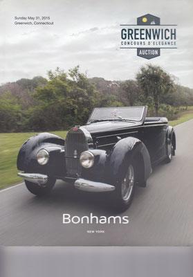 Veiling catalogus Bonhams New York uit 2015, Greenwich Concours d'Elegance Auction.