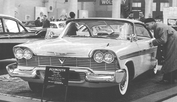 Een Plymouth V8 Fury uit 1958.