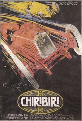 Tazio Nuvolari deed met het merk Chiribiri zijn intrede in de autosport.