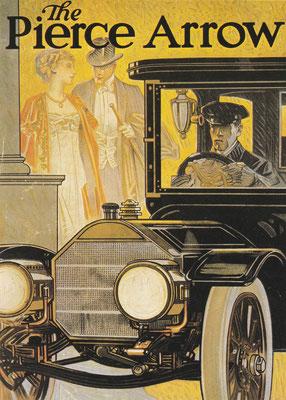 Reclame van Pierce Arrow uit 1912.