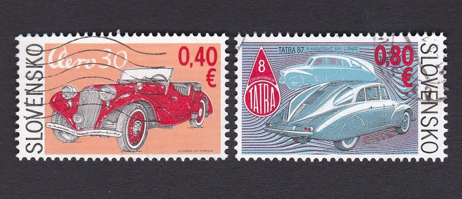 Postzegels Slowakije uit 2011.
