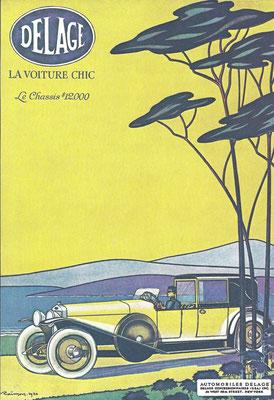 Advertentie Delage van J. Raimon uit 1920.
