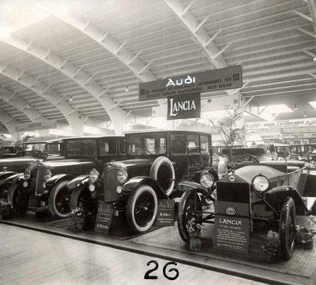 RAI 1924 met Audi en Lancia op de stand van De Fremery en Burlage uit Den Haag.