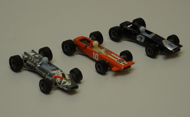 BRM, Mc Laren en Lotus Formule 1. Efsi 201, 205 en 206. Made in Holland.