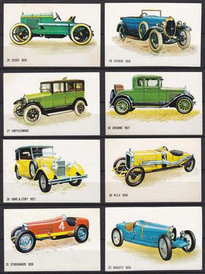Plaatjes uitgegeven door Bolletje (beschuit) 25 t/m 32.