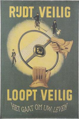 Affiche van de ANWB over veiligheid in het verkeer.