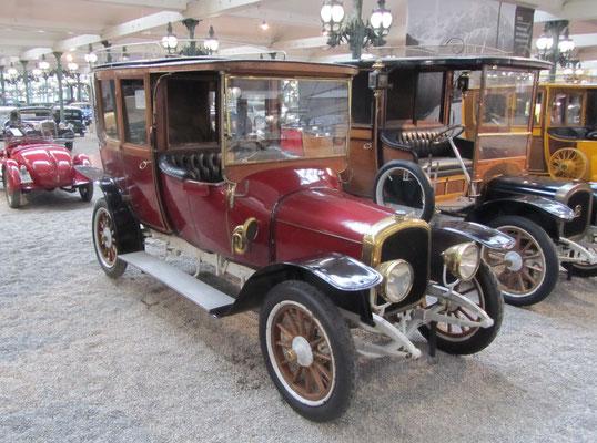 Delahaye Coupé-Chauffeur 32 uit 1914 (Collection Schlumpf).