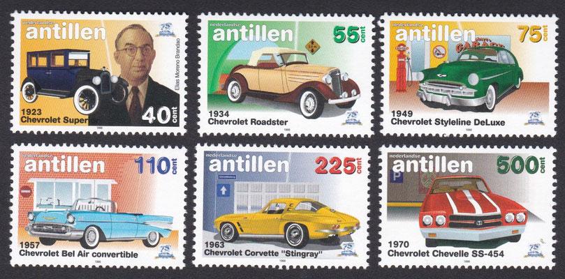 Postzegels Nederlandse Antillen uit 1986.