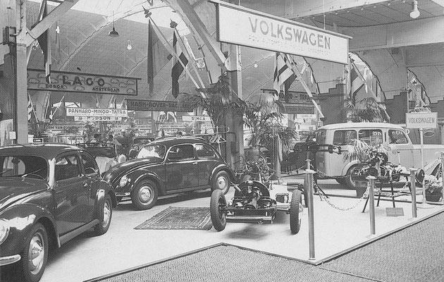 VW De kever staat in 1948 voor het eerst op de RAI.