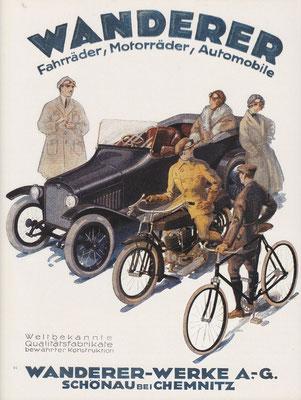 Advertentie van Wanderer uit 1922.