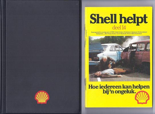 Shell Helpt. Een serie van ongeveer 18 boekjes over verschillende onderwerpen in een handig opbergmapje.