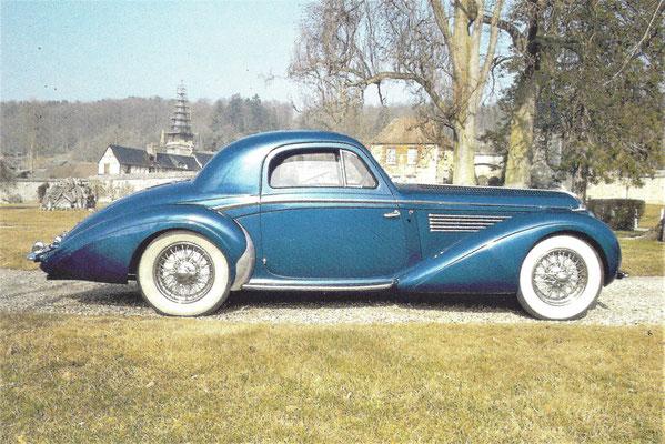 Deze Delahaye 135 MS met een koetswerk van Henri Chapron werd in 1948 geleverd aan de coureur Raymond Sommer.