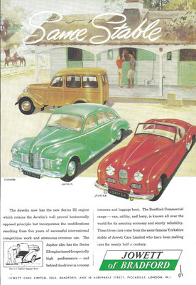 Advertentie Jowett.
